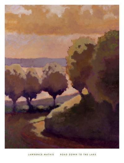 Road Down to the Lake-Lawrence Mathis-Art Print