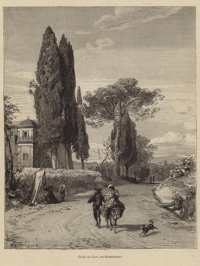 Road from Cavi to Genazzano--Giclee Print