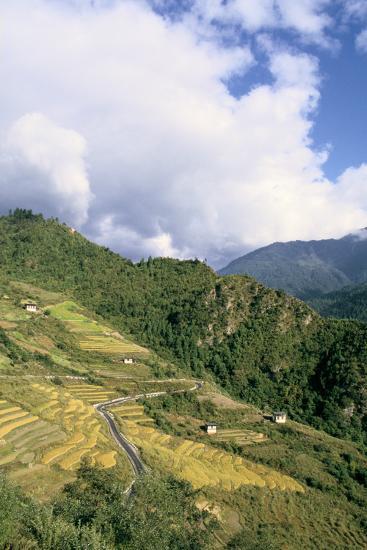 Road from Puntsholing to Paro, Bhutan-Vivienne Sharp-Photographic Print