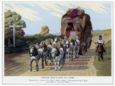 Road Haulage in 1790-J Baily-Giclee Print