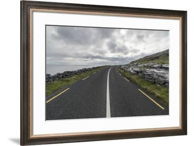 Road in Burren National Park, Munster, Co.Clare, Ireland, Europe.-ClickAlps-Framed Photographic Print