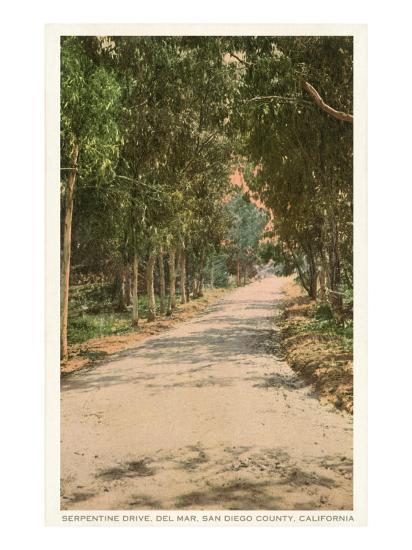 Road in Del Mar, California--Art Print