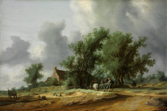 Road in the Dunes with a Carriage-Salomon Jacobsz van Ruisdael-Giclee Print