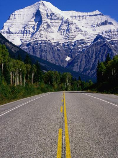 Road Leading to Mt. Robson, Rocky Mountains, Mt. Robson Provincial Park, Canada-Philip Smith-Photographic Print