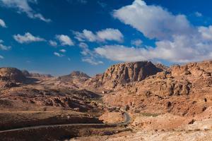 Road leading to Umm Sayhoun village, Ancient Nabatean City of Petra, Wadi Musa, Ma'an Governorat...