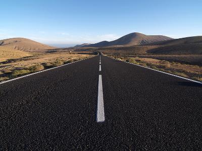 Road Near La Pared, Fuerteventura, Canary Islands, Spain, Europe-Hans Peter Merten-Photographic Print