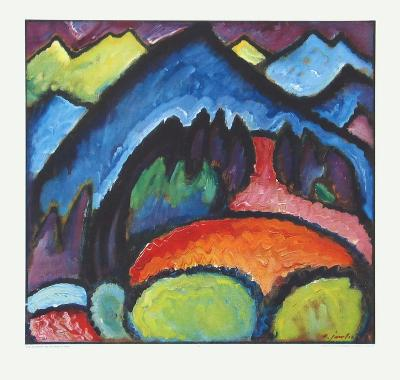 Road near Murnau-Alexej Von Jawlensky-Collectable Print