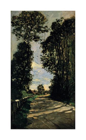 Road of the Farm Saint-Simeon-Claude Monet-Premium Giclee Print