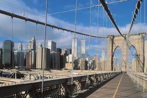 Road on a Bridge, Brooklyn Bridge, Manhattan, New York City, New York State, Usa