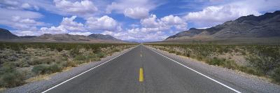 Road Passing Through a Desert, Death Valley, California, USA--Photographic Print