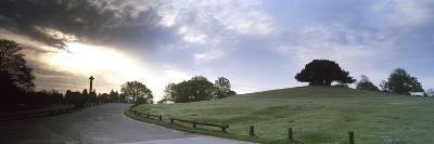Road Passing Through a Landscape at Dawn, Bolton's Bench, Lyndhurst, New Forest, Hampshire, England--Photographic Print