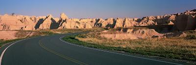 Road Passing Through Mountains, Badlands National Park, South Dakota, USA--Photographic Print