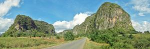Road passing through mountains, Mogotes, Vinales Valley, Cuba