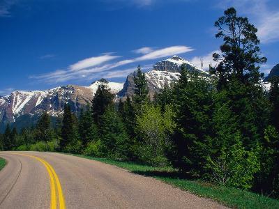 Road Through Glacier National Park-Mick Roessler-Photographic Print