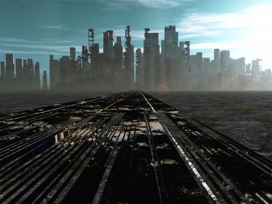 Road To Dead City-rolffimages-Art Print
