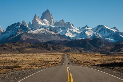 Road to El Chalten, Fitz Roy in Background-ykumsri-Photographic Print
