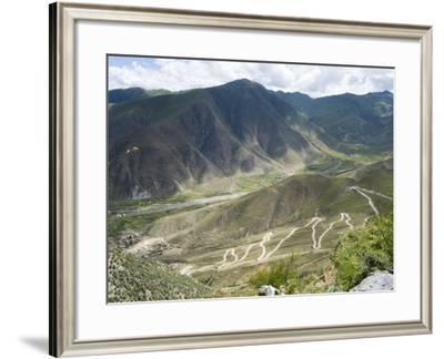 Road to Ganden Monastery, Near Lhasa, Tibet, China-Ethel Davies-Framed Photographic Print