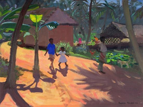 Road to Kovalum Beach, Kerala, 1996-Andrew Macara-Giclee Print