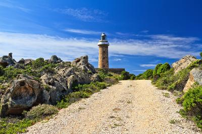 Road to Lighthouse - San Pietro Isle, Sardinia, Italy-Antonio Scarpi-Photographic Print