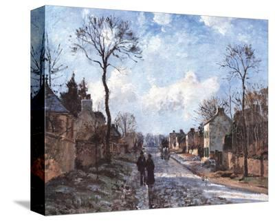 Road to Louvecienne-Camille Pissarro-Stretched Canvas Print