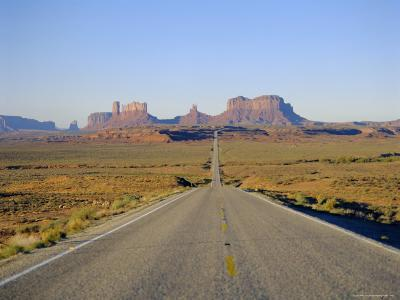 Road to Monument Valley, Navajo Reserve, Utah, USA-Adina Tovy-Photographic Print