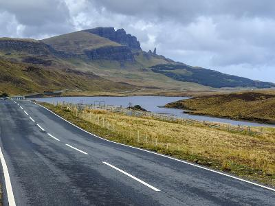 Road to Old Man of Storr Mountain, Trotternish Peninsula, Isle of Skye, Inner Hebrides, Scotland-Chris Hepburn-Photographic Print