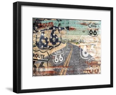 Road To The Flag-Jace Grey-Framed Art Print
