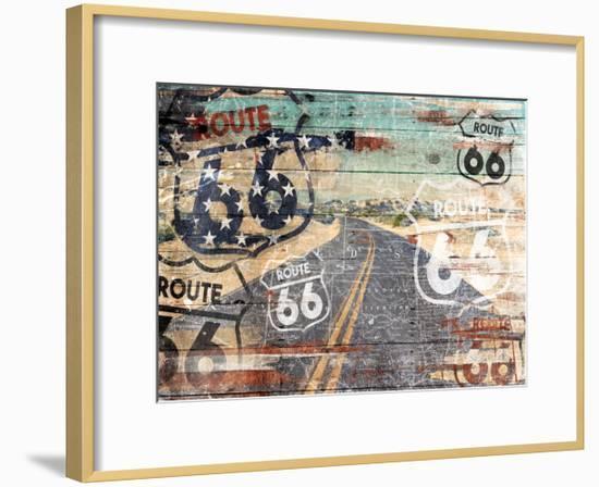 Road To The Flag-Jace Grey-Framed Art Print