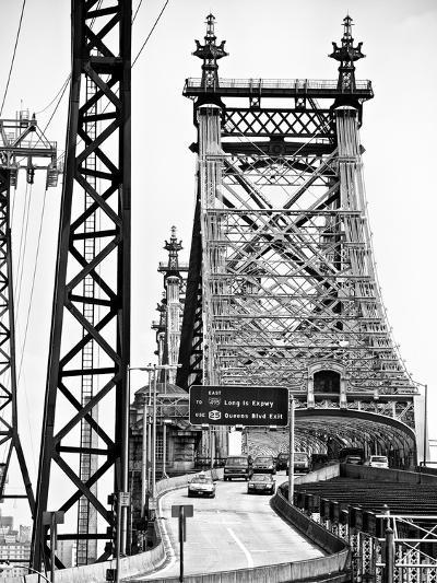 "Road Traffic Exit on ""59th Street Bridge"" (Queensboro Bridge), Manhattan Downtown, NYC-Philippe Hugonnard-Photographic Print"