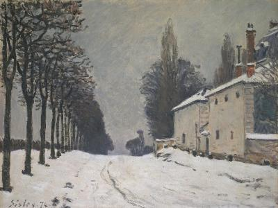 Road under Snow, Near Louveciennes, 1874-Alfred Sisley-Giclee Print