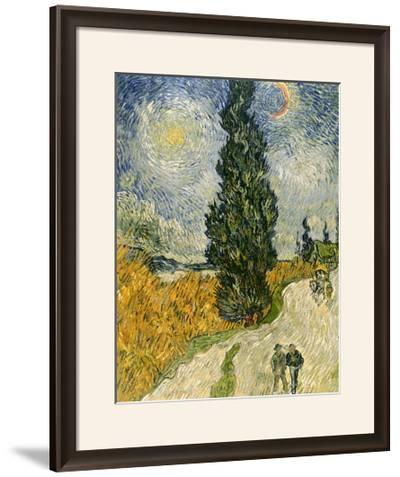 Road with Cypresses, c.1890-Vincent van Gogh-Framed Giclee Print