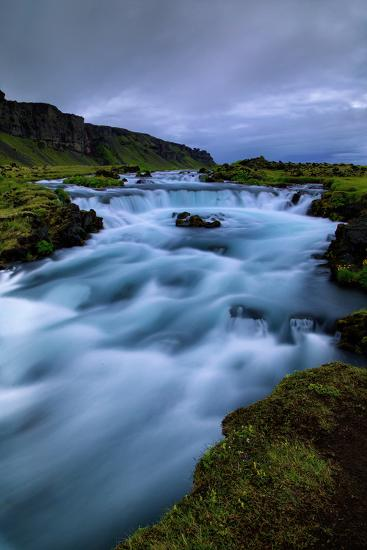 Roadside Blue, Water and Sky Drama Southern Iceland Ring Road-Vincent James-Photographic Print