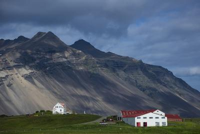 Roadside Farm Along the South Coast of Iceland-Michael Melford-Photographic Print