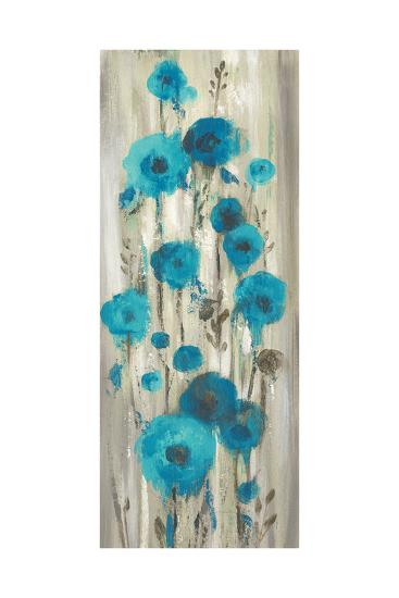 Roadside Flowers I Blue Crop-Silvia Vassileva-Art Print