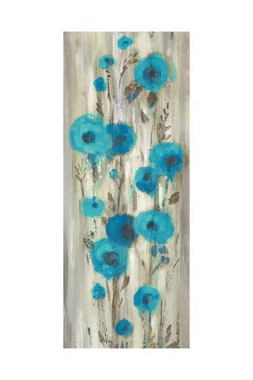 Roadside Flowers II Blue Crop-Silvia Vassileva-Art Print