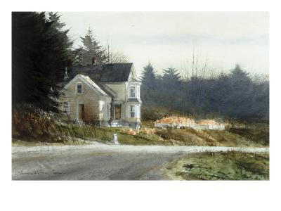 Roadside Pumpkins-Thomas William Jones-Premium Giclee Print