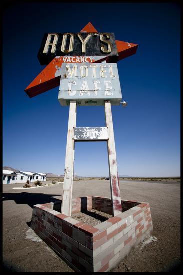 Roadtrip: Route66 Through California Roy's Motel and Cafe in Amboy, California-Christina Czybik-Photographic Print