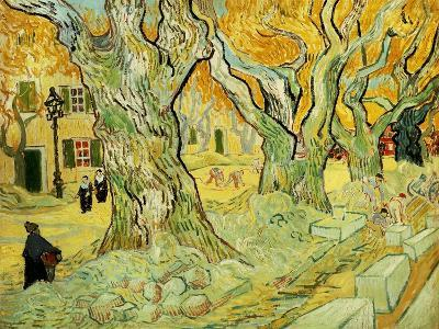 Roadworks At Saint-rémy, 1889-Vincent van Gogh-Giclee Print