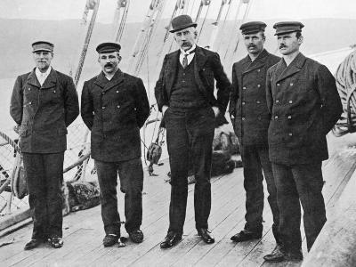 Roald Amundsen and His Men Aboard the 'Fram', Hobart, 1912--Photographic Print