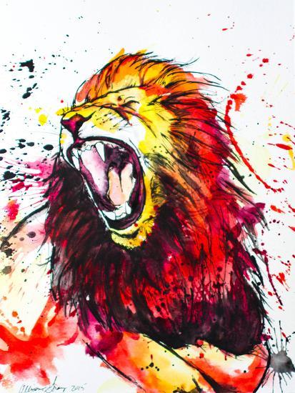 Roaring Lion-Allison Gray-Art Print