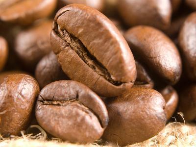 Roasted Coffe Beans Macro Texture-PH.OK-Photographic Print
