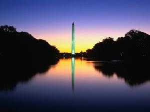 "An Illuminated Washington Monument Reflects in the ""Reflecting Pool,"" Washington D.C, USA by Rob Blakers"