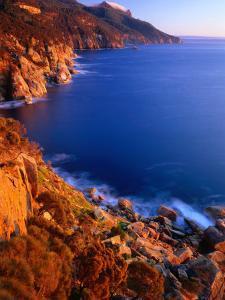 Coastline of Maria Island National Park, Maria Island, Tasmania, Australia by Rob Blakers