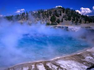Lower Geyser Basin Yellowstone National Park, Wyoming, USA by Rob Blakers