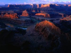 Sunrise Over Canyon, from Dead Horse Gap Canyonlands National Park, Utah, USA by Rob Blakers