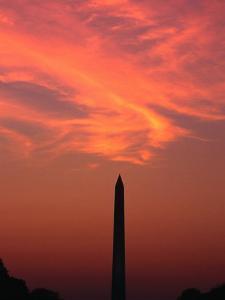 Washington Monument at Sunset Washington DC, Virginia, USA by Rob Blakers