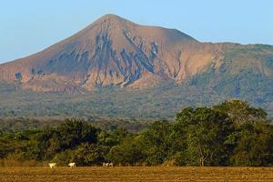 Fields North of Leon and Volcan Telica by Rob Francis