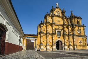 Mexican-Style Baroque Facade of the Iglesia De La Recoleccion Church Built in 1786 by Rob Francis