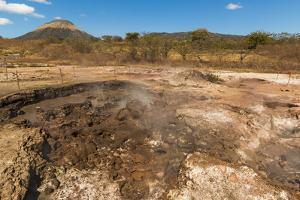 Mud Pots, Fumaroles and Dormant Volcan Santa Clara at the San Jacinto Volcanic Thermal Area by Rob Francis