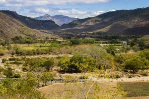 View of the Guayabo Valley Where the Coco River Opens Out Below the Famous Somoto Canyon by Rob Francis
